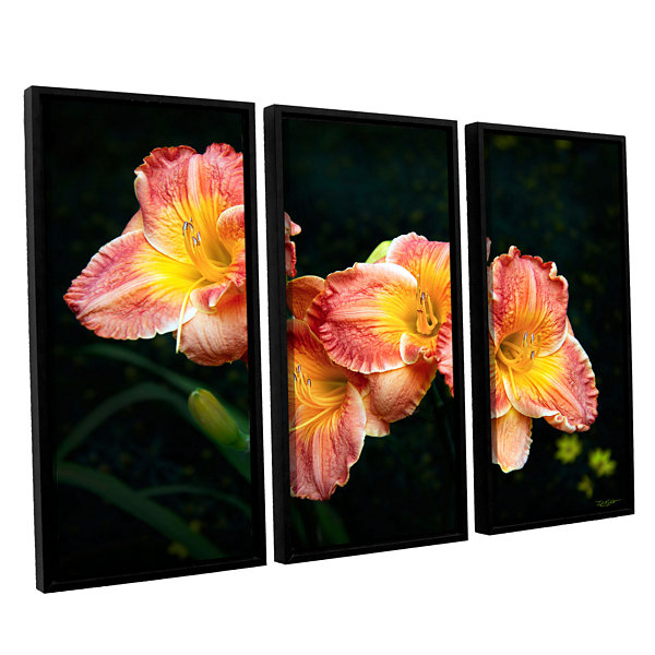 Brushtone Fresh Flowers 3-pc. Floater Framed Canvas Wall Art