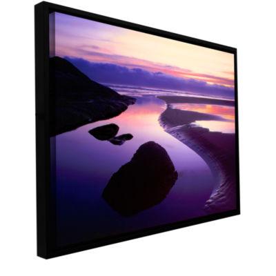 Brushtone Fog Bank Sunset Gallery Wrapped Floater-Framed Canvas Wall Art