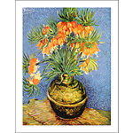 Brushtone Fritillaries Canvas Wall Art