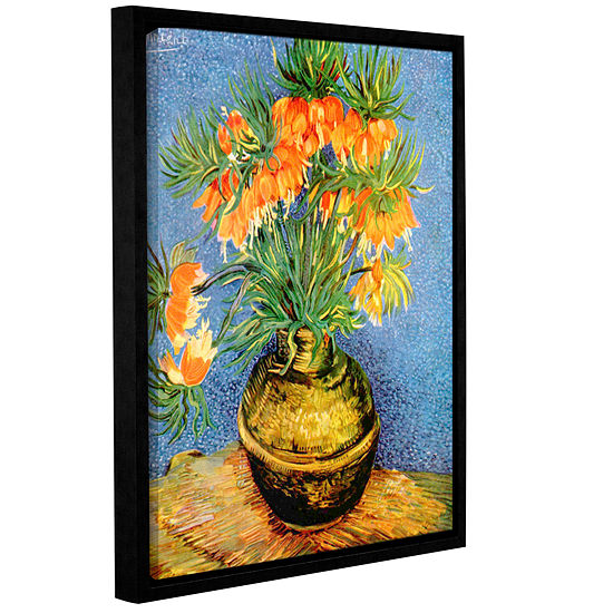 Brushtone Fritillaries Gallery Wrapped Floater-Framed Canvas Wall Art