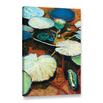 Brushtone Frogs Hideaway Gallery Wrapped Canvas Wall Art