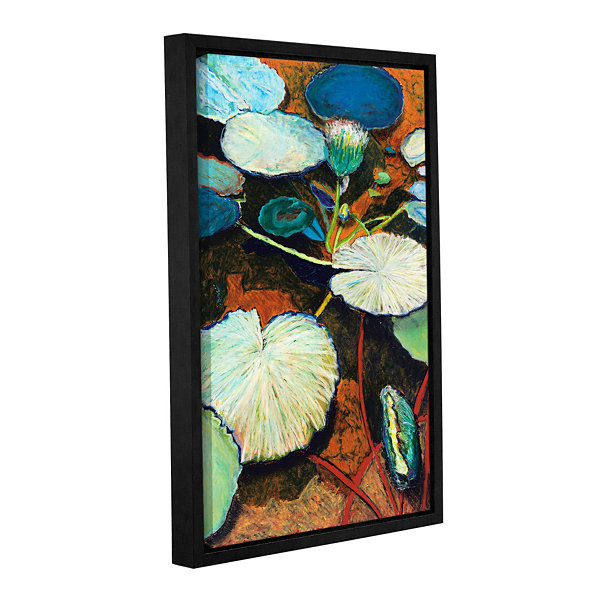 Brushtone Frogs Hideaway Gallery Wrapped Floater-Framed Canvas Wall Art