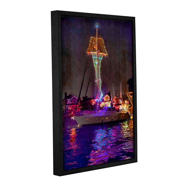 Brushtone Fragile Is Indescribably Beautiful Gallery Wrapped Floater-Framed Canvas Wall Art