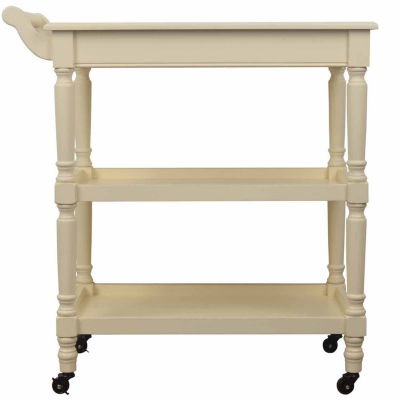 Decor Therapy Portable Wood-Top Kitchen Cart