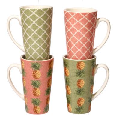 Certified International Floridian 4-pc. Coffee Mug