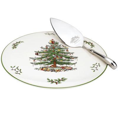 Spode Christmas Tree Cake Plate and Server