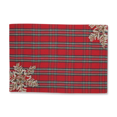Pillow Perfect Stuart Red Placemat (Set of 2)