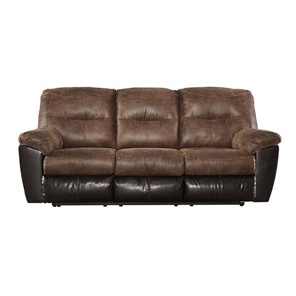 Signature Design By Ashley® Longview Pad Arm Reclining Sofa