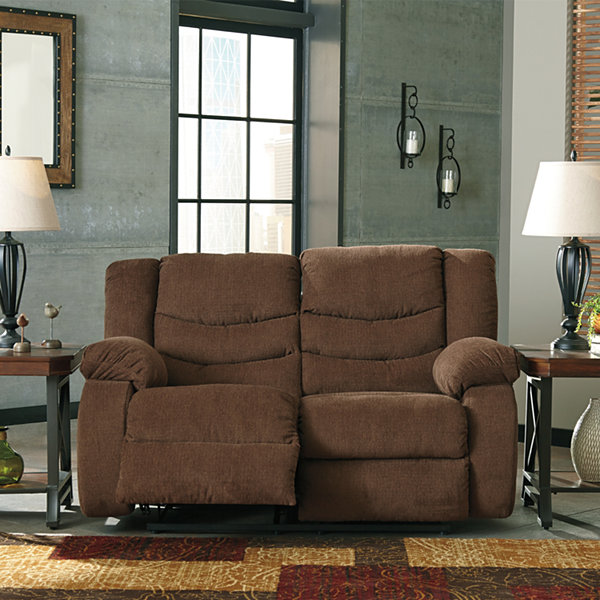 Signature Design by Ashley® Henderson Pad-Arm Reclining Loveseat