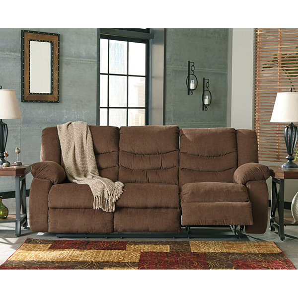 Signature Design by Ashley® Henderson Pad-Arm Reclining Sofa