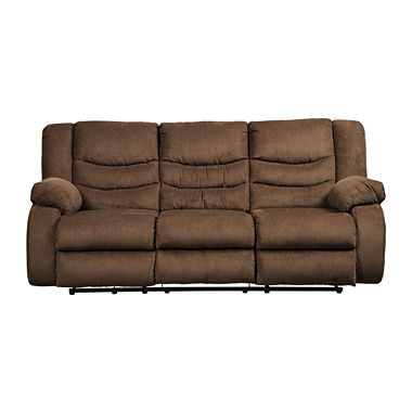 Signature Design by Ashley Henderson Pad-Arm Reclining Sofa
