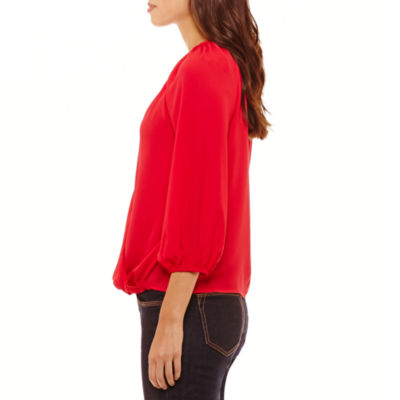 Bold Elements Draped 3.4 Sleeve Necklace Top