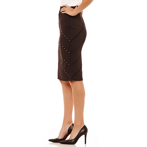 Bold Elements Studded Pencil Skirts
