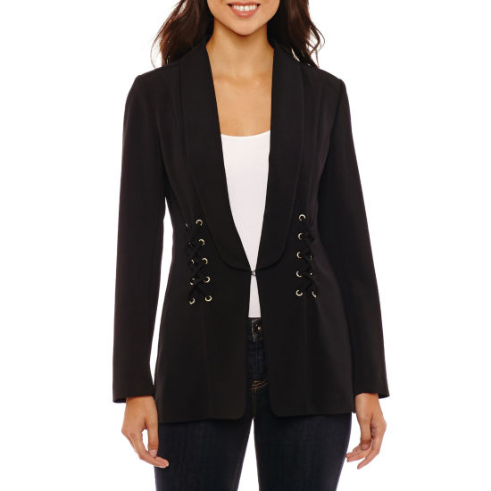Bold Elements Lace Up Blazer