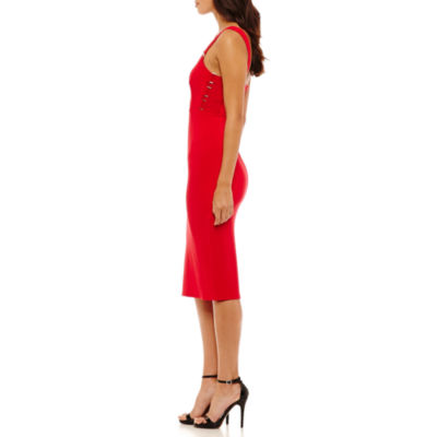 Bold Elements Hardware Sleeveless Bodycon Dress