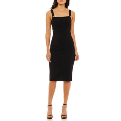 Bold Elements Hardware Sleeveless Bodycon Dress