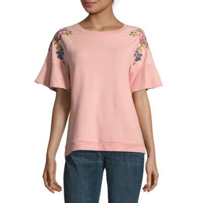 St. John's Bay Short Sleeve Sweatshirt