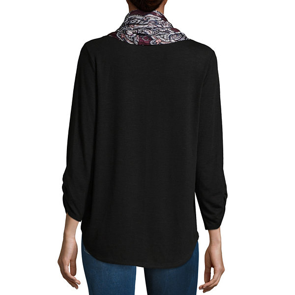 Alyx 3/4 Sleeve Round Neck Knit Blouse