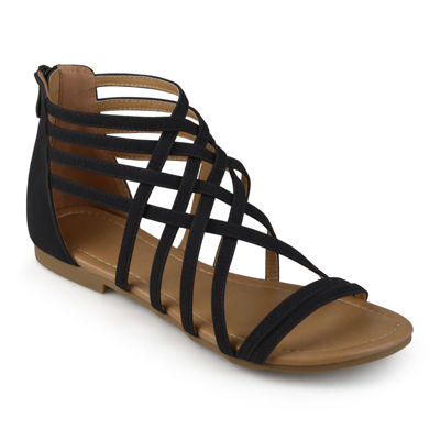 Journee Collection Womens Hanni Criss Cross Strap Gladiator Sandals
