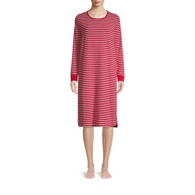 Liz Claiborne Womens Jersey Nightshirt Long Sleeve