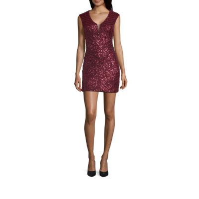 Haute Nites Sleeveless Bodycon Dress-Juniors