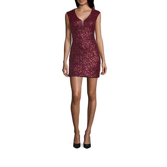 Haute Nites Sleeveless Bodycon Dress Juniors