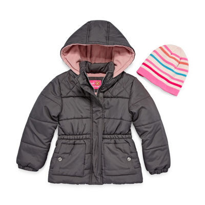 Pink Platinum Heavyweight Diamond Puffer Jacket - Girls 4-16