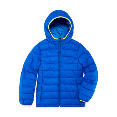 Xersion - Boys Midweight Puffer Jacket Husky-Big Kid