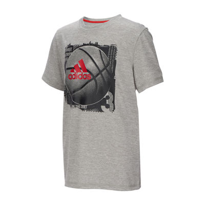 adidas Boys Crew Neck Short Sleeve Graphic T-Shirt-Big Kid
