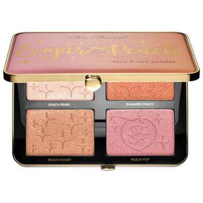 Too Faced Sugar Peach Wet and Dry Face & Eye Palette - Peaches and Cream Collection