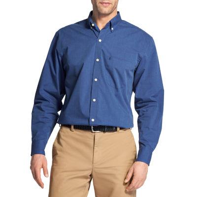 IZOD Mens Long Sleeve Button-Front Shirt