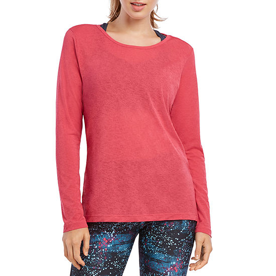 Jockey Fall Womens Round Neck Long Sleeve T-Shirt