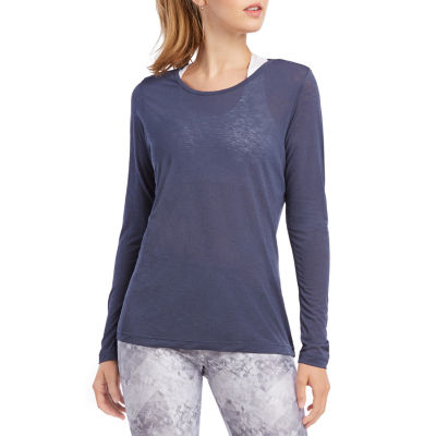 Jockey Fall-Womens Round Neck Long Sleeve T-Shirt