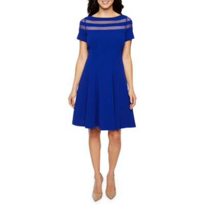 Studio 1 Short Sleeve Fit & Flare Dress