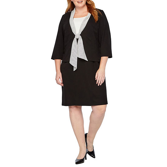 Danny Nicole 3 4 Sleeve Jacket Dress Plus