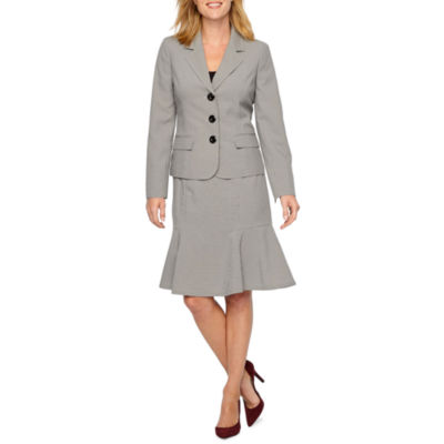 Le Suit Checked Skirt Suit