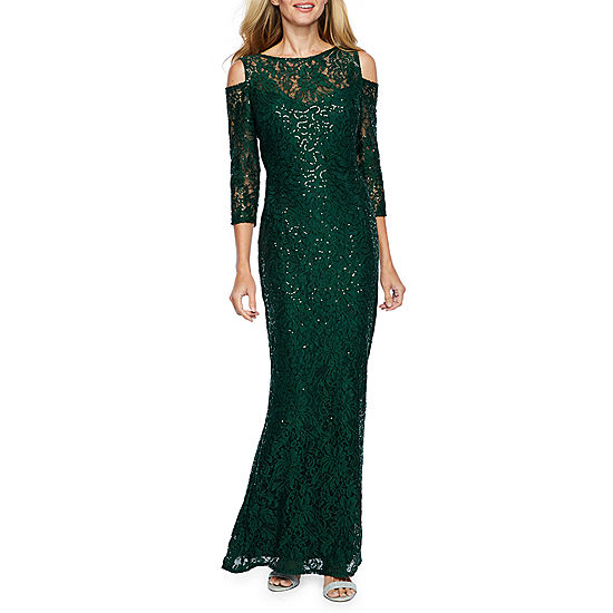 Blu Sage Long Sleeve Sequin Evening Gown Jcpenney