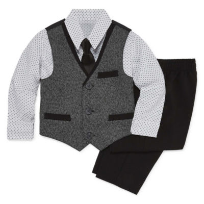 Van Heusen 4-pc. Suit Vest Pant Set- Baby Boys