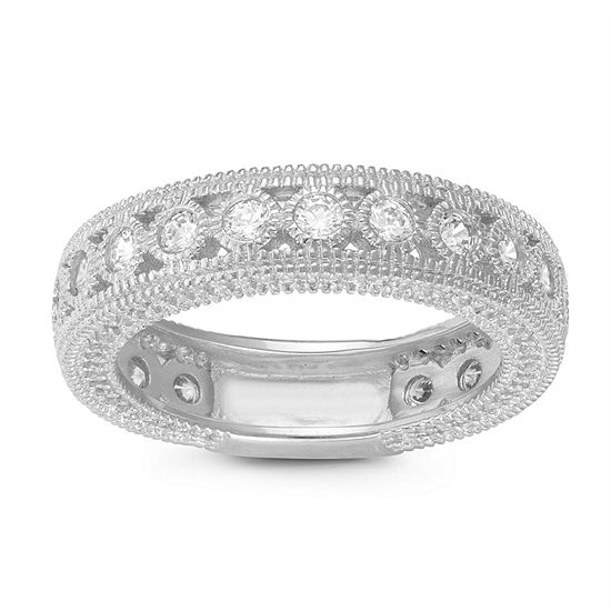 5.5MM 5/8 CT. T.W. White Cubic Zirconia Sterling Silver Band