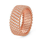 Womens 1 3/4 CT. T.W. White Cubic Zirconia 14K Rose Gold Over Silver Cocktail Ring