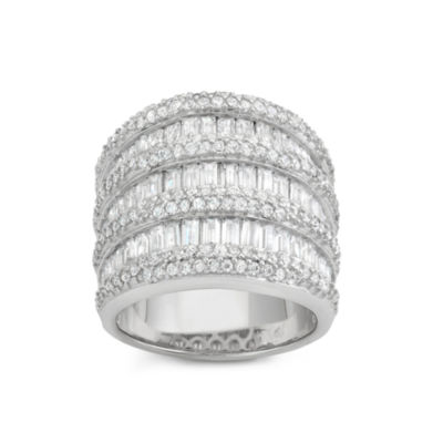 Womens 3 1/2 CT. T.W. White Cubic Zirconia Cocktail Ring