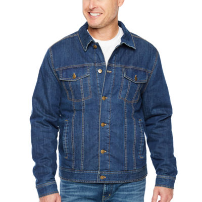 Big Mac Midweight Sherpa Lined Denim Shirt Jacket - Big & Tall