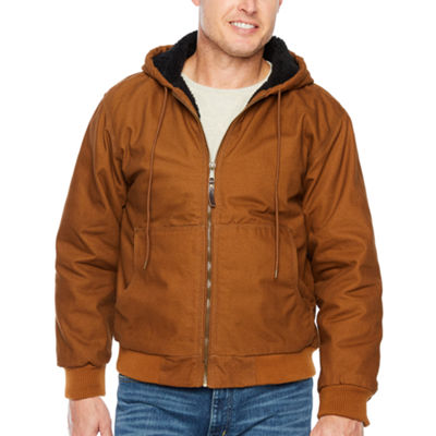 Smith Sherpa Lined Duck Hooded Bomber Jacket