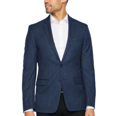 Van Heusen Blue Checked Slim Fit Sport Coat