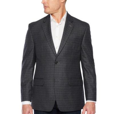 IZOD Gray and Navy Classic Fit Sport Coat