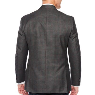 IZOD Gray Check Classic Fit Sport Coat