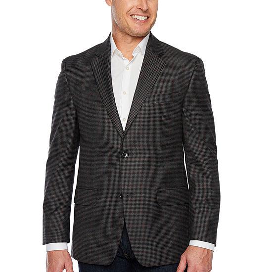 IZOD Gray Check Classic Fit Sport Coat