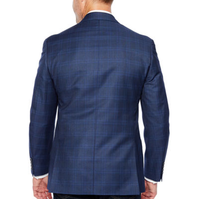 IZOD Blue Windowpane Classic Fit Sport Coat