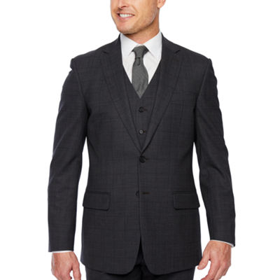 Claiborne Windowpane Classic Fit Stretch Suit Jacket