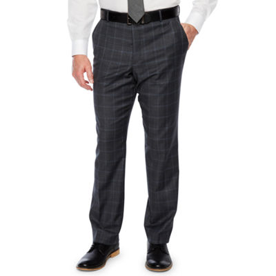 Stafford Checked Classic Fit Stretch Suit Pants
